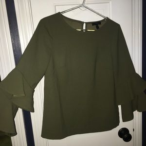 Jcrew ruffle bell sleeve blouse